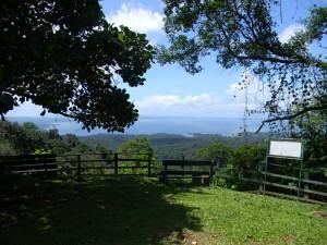 Suriname uitzicht over rivier