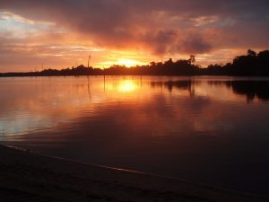 Sunset Ston Island